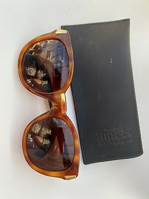 £30 • Buy Gianfranco Ferre Vintage Oversized Sunglasses, Amber Brown With Gold