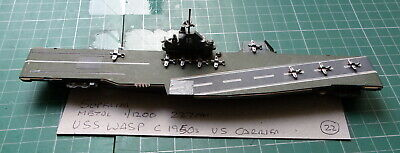 £44 • Buy USS Wasp C 1950s  American Aircraft Carrier Scale 1/1200 1/1250  Ship Model