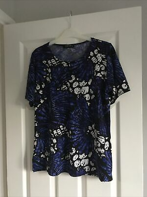 £3.49 • Buy Forever By Michael Gold Ladies T-shirt Size Medium Black Blue White