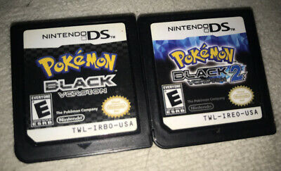 $83 • Buy Used Pokemon Black Version 2 And One Nintendo Ds (two Cartridgesonly) Authentic