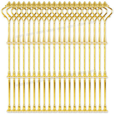 £18.99 • Buy 20 Sets 3 Tier Cake Plate Stand Handle Fittings Gold Royal Crown Head