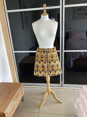 £6.99 • Buy River Island  Floral A Line Mini Skirt Zip Front Size 10