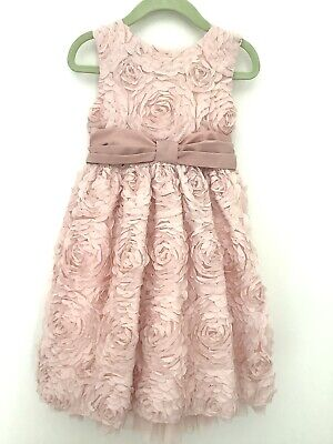 £6.99 • Buy Girl's Ted Baker Pink Floral Net Dress Tie Bow Age 4-5 Special Occasion Wedding.