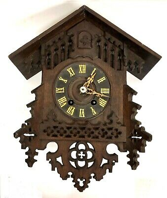 £295 • Buy Antique Carved Gothic Cuckoo Clock For Restoration / Spares Repair : GHS ?