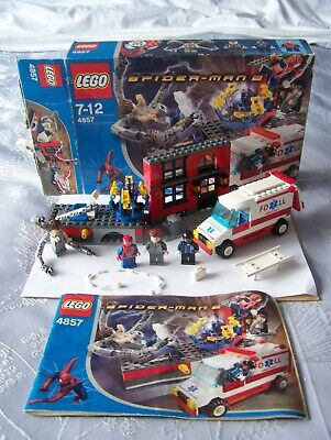 £75 • Buy LEGO Spider-Man 2- Rare 4857 Doc Ock's Fusion Lab 100% Complete Box And Manual