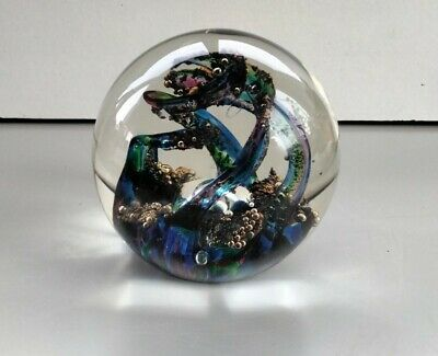 £12 • Buy  Selkirk Glass Spindrift Paperweight 1993 Signed
