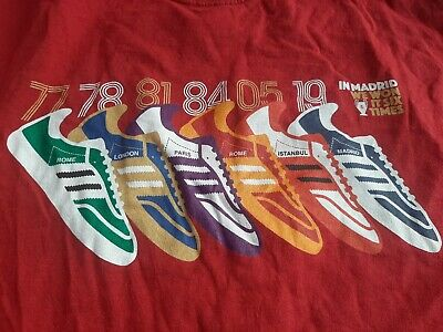 £9.99 • Buy Liverpool Adidas Trainers T Shirt L  European Champions 6 Times  Champions...