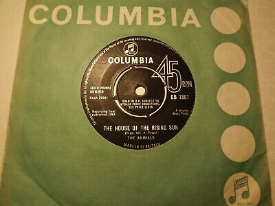 £2.99 • Buy 45rpm....The Animals.....The House Of The Rising Sun......60s Pop/Beat..