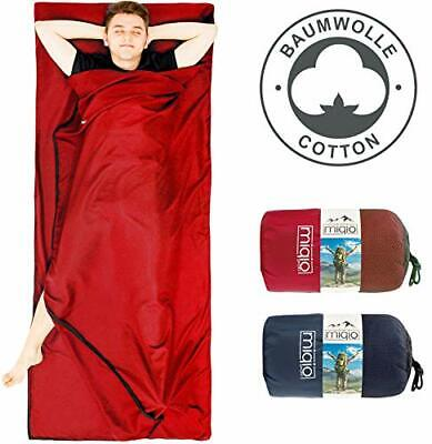 £34.99 • Buy 2in1 Cotton Sleeping Bag Liner And Lightweight XL Size Double Travel Bed