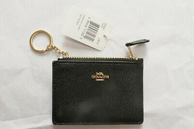 £32 • Buy Coach Black Card Holder And Keyring - Brand New