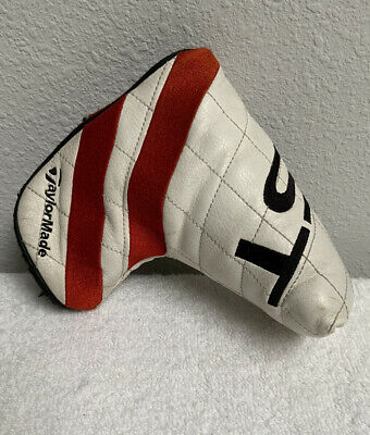 £8.69 • Buy TaylorMade Ghost Tour Blade Putter Head Cover White Black Red Headcover