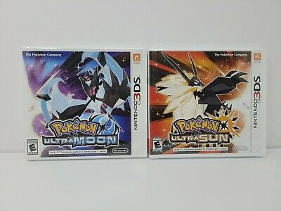 $63 • Buy Pokemon Ultra Moon And Ultra Sun Authentic Nintendo 3DS Games (Factory Sealed)