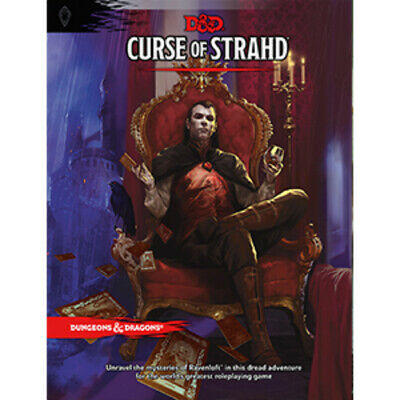 AU59.50 • Buy D&D Curse Of Strahd - Hard Cover 5th Edition Book Dungeons And Dragons