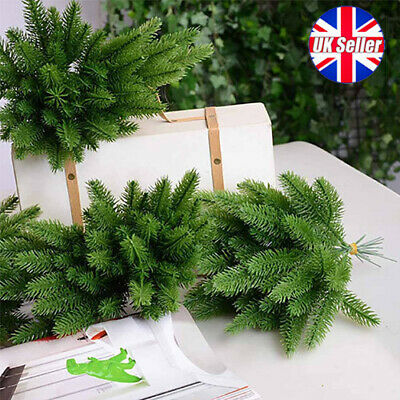 £8.99 • Buy 10X Artificial Plants Pine Branches Christmas Garland DIY Xmas Party Decorations