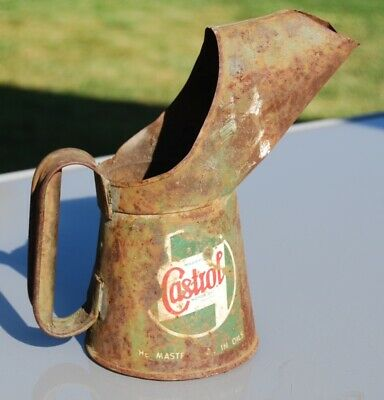 £5.80 • Buy Castrol Oil can 1 Pint Jug Pourer, With lead Seal From 1955 ? Restoration?