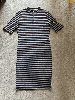 £2.99 • Buy Women's Newlook Ribbed Striped Dress Size 12