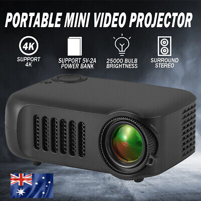 AU29.22 • Buy 1080P HD Portable Mini Video Projector HDMI Home Theater Cinema Movie Projection