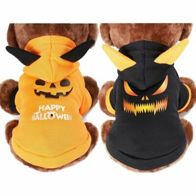 £6.54 • Buy Pet Cat Halloween Costume Dog Small Coat Outfit Clothes Hoodie Jumper Cute Gift