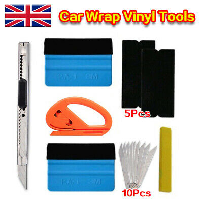 £6.98 • Buy Car Wrap Vinyl Tools 6 Film Wrapping Carbon Fibre Felt Squeegee Safety Kit