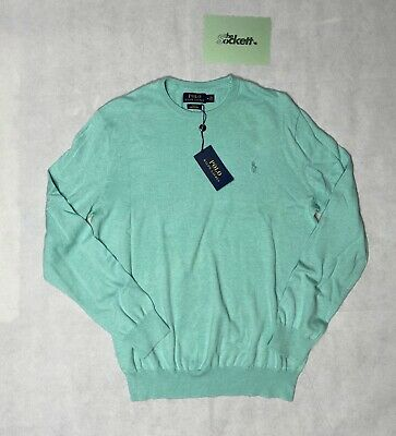 £39.99 • Buy Polo Ralph Lauren Green Logo Embroided Cotton Sweater Size Small Medium RRP £130