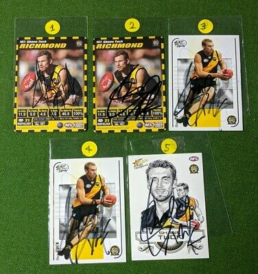 AU30 • Buy ✺Signed✺ 2007 RICHMOND TIGERS AFL Card SHANE TUCK Take A Pick From Any Card 😭💔