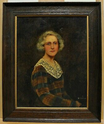 £44.19 • Buy Antique Early 20th Century Scottish Oil On Canvas Portrait Of A Lady Painting