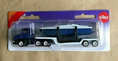 £13.04 • Buy Siku Super Serie 1613 Blue Low Loader Lorry With Boat Die-cast Mint On Card MOC