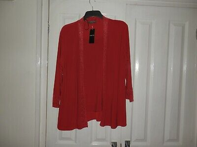 £4.99 • Buy Forever Red By Michael Gold XL(Approx.Size 20) Red With Glitter 3/4 Sleeve Top.