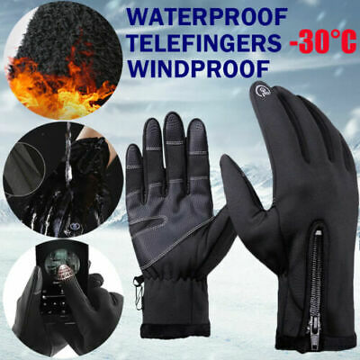 £7.69 • Buy -30℃ Winter Ski Gloves Thermal Snowboard Snow Skiing Touchscreen Mens Womens