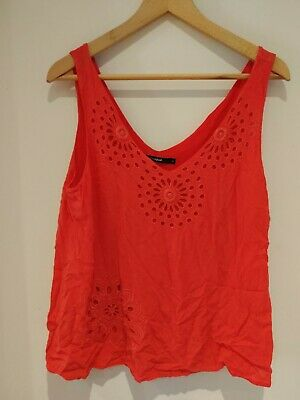 £1.20 • Buy Desigual Women's Top Red Size M