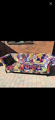 £300 • Buy Funky Velour Chesterfield Patchwork Design RRP £1795