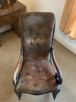 £10 • Buy Antique Upholstered Rocking Chair