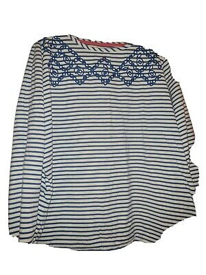 £8.99 • Buy Joules Blue/white Striped Top Size 22