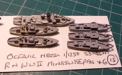 £4.99 • Buy RN WWII Minesweepers X 6 By Oceanic, Scale 1/1250 Ship Model