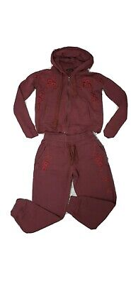 £17 • Buy The Kooples Burgundy Embroidered Tracksuit, Hoodie & Trouser - Size XXS & M