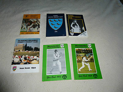 £12 • Buy Cricket Yearbooks Somerset Worcestershire Glouscestershire