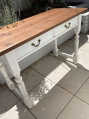 AU145 • Buy Solid Timber Desk Hall Table Console W 2 Drawers