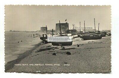 AU3.76 • Buy Hythe - Fishing Boats And Martello Towers - C1950's Kent Real Photo Postcard