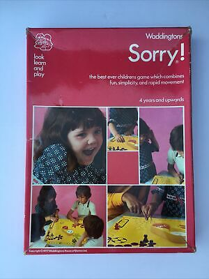£2.40 • Buy Sorry ! By Waddingtons Vintage Board Game (1977) - Complete
