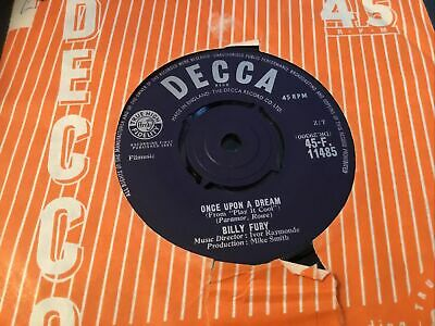 £1.50 • Buy * BILLY FURY Once Upon A Dream  UK DECCA SINGLE  1962 45 EX
