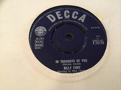 £1.40 • Buy * BILLY FURY In Thoughts Of You. UK DECCA SINGLE  1965 45 EX-