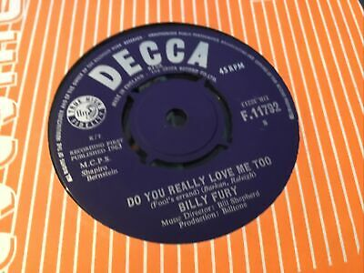 £1.50 • Buy * BILLY FURY Do You Really Love Me To   UK DECCA SINGLE  1963 45 EX