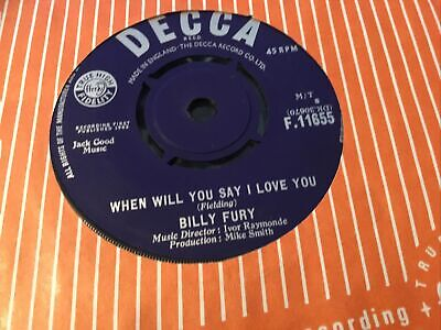 £1.50 • Buy * BILLY FURY All I Wanna Do Is Cry And Cry UK DECCA SINGLE  1963 45 EX