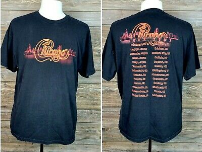 £15.71 • Buy Chicago World Tour 2003 Concert Band Tee Black Tennessee River Sz XL S/S T-Shirt