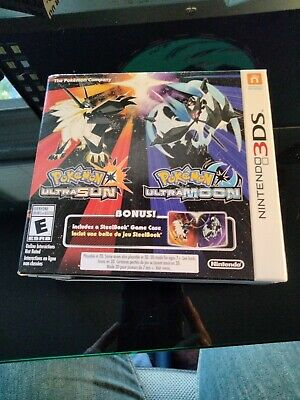 $150 • Buy Pokemon Ultra Sun And Ultra Moon Dual Pack With Steelbook Sealed