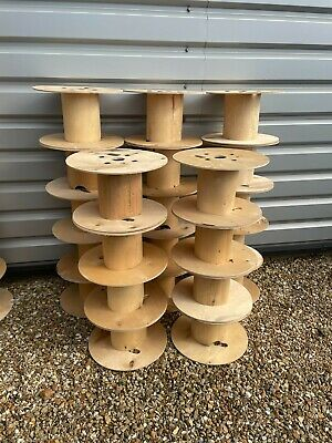£5 • Buy Wooden Cable Drum Height 27 Cm Width 45 Cm Project Table Garden Use And More