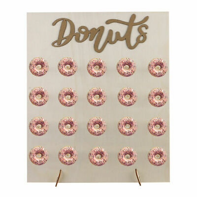 £10.95 • Buy 20 Donut Wall Stand Wooden Doughnut Sweets Candy Birthday Party Wedding Decor