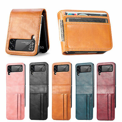 AU18.98 • Buy For Samsung Galaxy Z Flip 3 5G Leather Wallet Card Slots Protective Case Cover