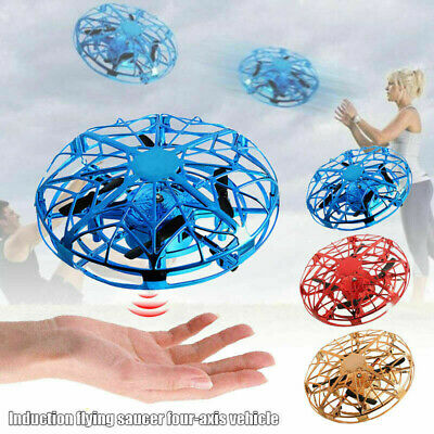 AU17.43 • Buy Mini Drone Smart UFO Aircraft For Kids Flying Toys Hand Control Christmas Gift