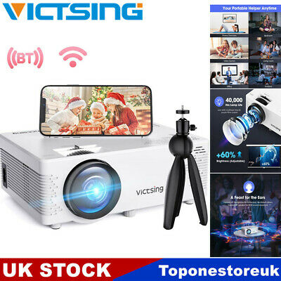 £56.79 • Buy VicTsing WiFi Bluetooth 1080P Projector Home Theater Cinema For IPhone Andriod